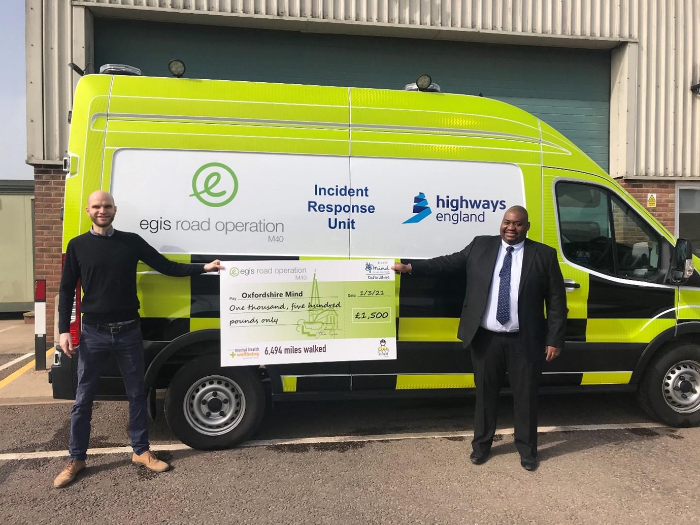 Egis M40 raises over £1,500 for Oxfordshire Mind